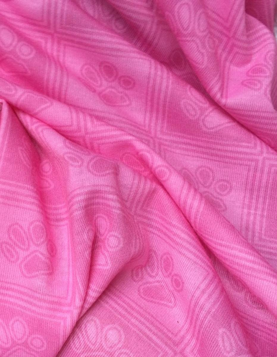 Neck gaiter with paw pattern in cotton/polyester